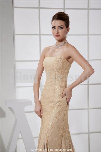 beige lace prom dress 2018