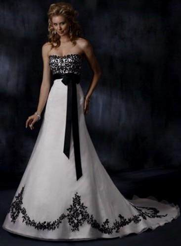 Black And White Wedding Dress From Say Yes To The Dress