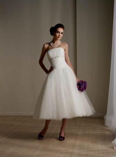 black and white wedding dresses plus size tea length 2017 ...