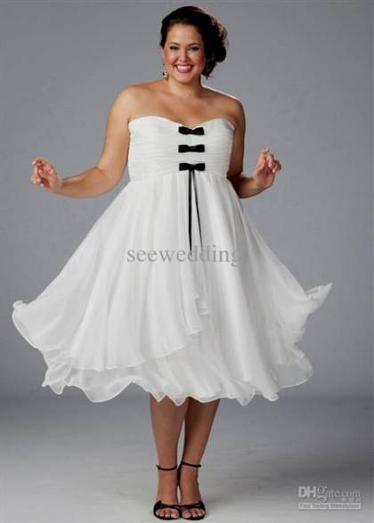 black and white wedding dresses plus size tea length 2017-2018 | B2B ...