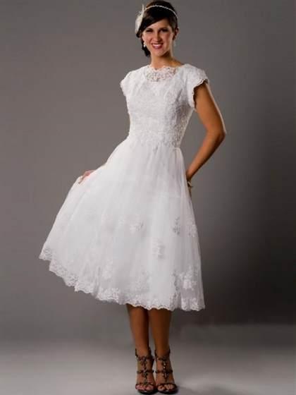black and white wedding dresses plus size tea length 2017-2018   B2B ...
