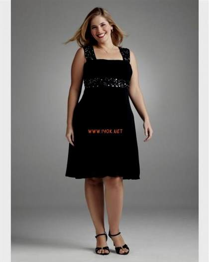 2018 plus size black cocktail dresses