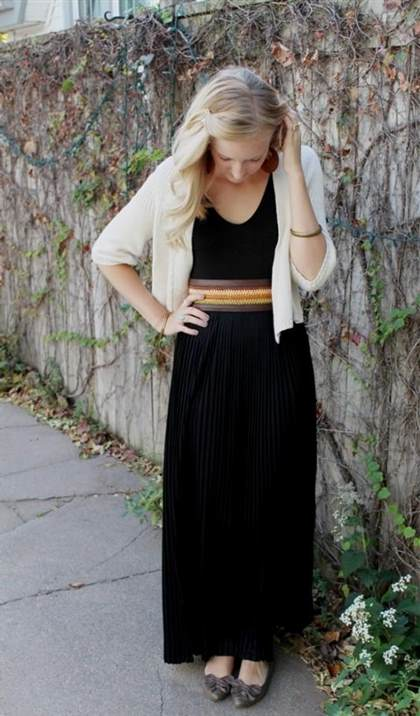 black dress outfit fall 2017-2018