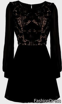 black lace dress with sleeves tumblr 2017-2018