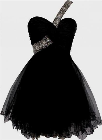 black prom dresses short 2018