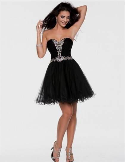 black prom dresses short 2018