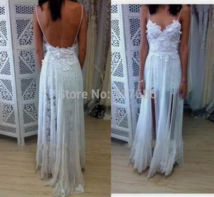 boho beach wedding dress 2017-2018