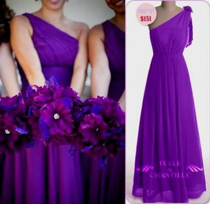 bright purple bridesmaid dress 2017-2018