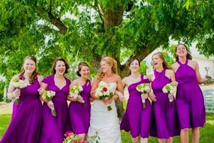 bright purple bridesmaid dress 2017-2018