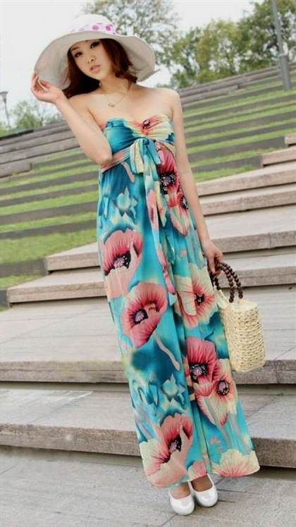 casual strapless maxi dress 2017-2018