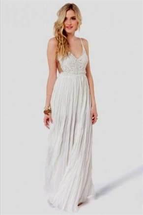 casual white maxi dresses 2017-2018