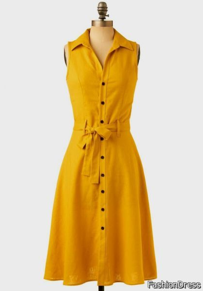 casual yellow dresses 2017-2018