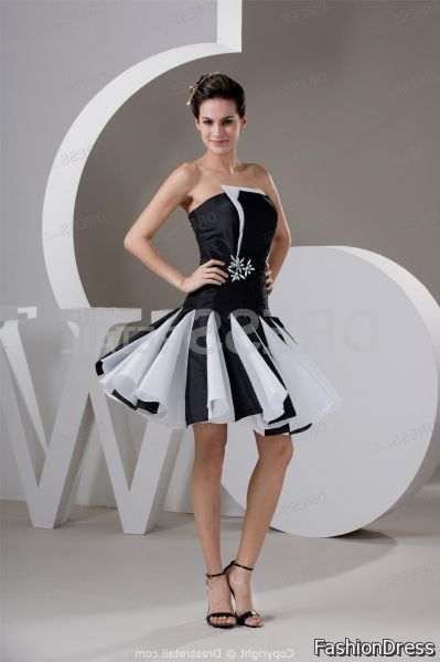 cocktail dress black and white 2017-2018