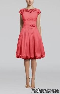 coral bridesmaid dresses with sleeves 2017-2018
