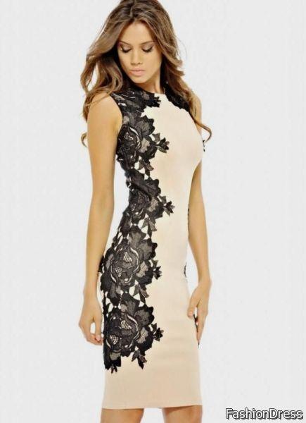 Cream Lace Cocktail Dress 2017 2018 B2b Fashion
