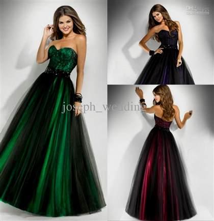 dark emerald prom dresses 2018