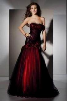 dark red ball gown prom dresses 2018