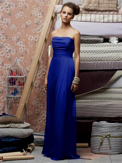 electric blue bridesmaid dresses 2017-2018