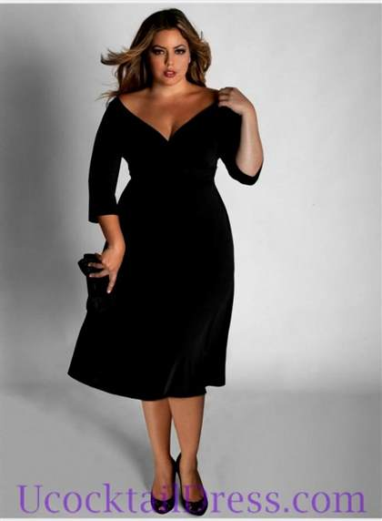 elegant black cocktail dress 2017-2018