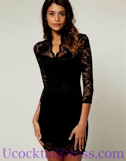 elegant black cocktail dresses 2017-2018