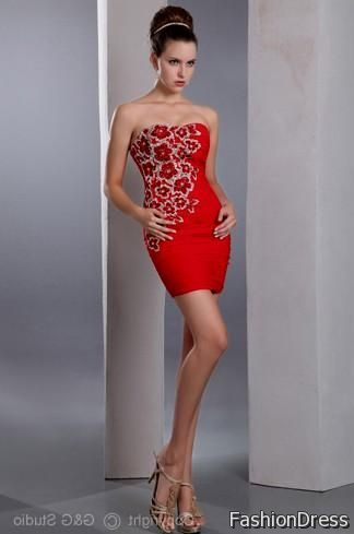 elegant red cocktail dress 2017-2018