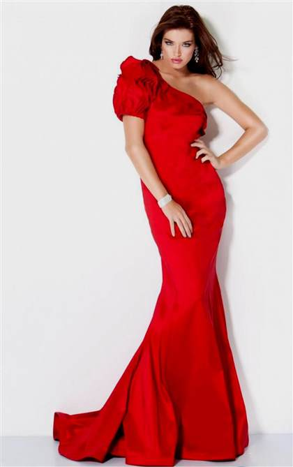 elegant red dresses 2018