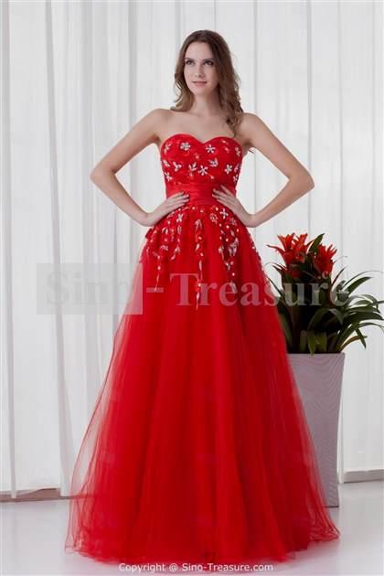 elegant red dresses 2018