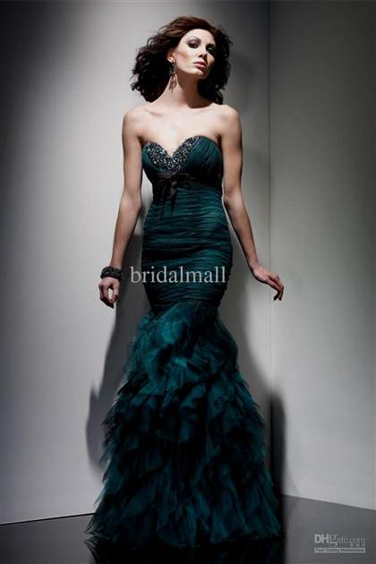 emerald mermaid prom dresses 2018