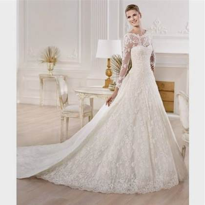 fancy wedding dresses with sleeves 2017-2018