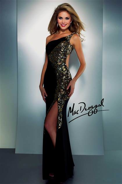 Sequined prom dress 2018 black