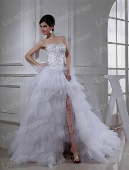 2018 High Low Wedding Dress