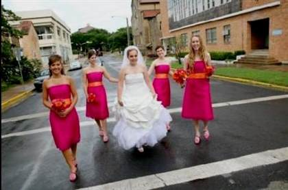 Hot Pink And Orange Bridesmaid Dresses 2017 2018