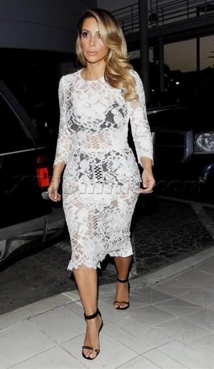 kim kardashian white lace dress 20172018 b2b fashion