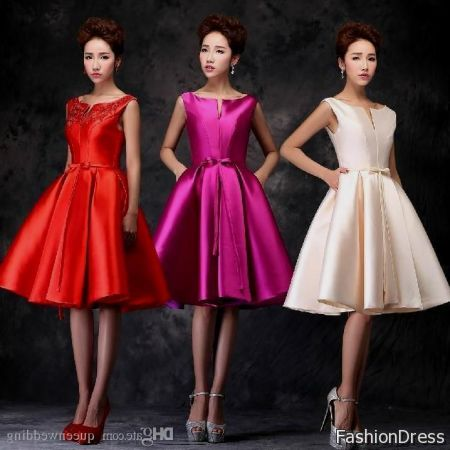 korean cocktail dress for teenage girls 2017-2018