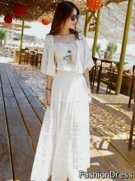 lace white bohemian dress 2017-2018