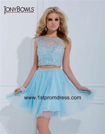 light blue dresses for prom short 2017-2018