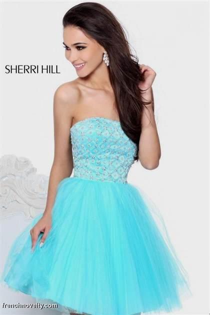 light blue dresses for prom short 2017-2018