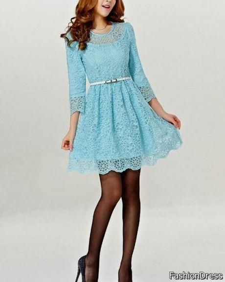 light blue lace dress 2017-2018