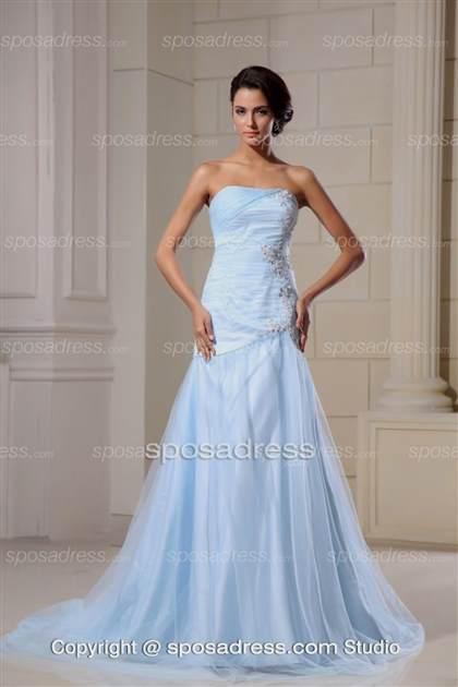 Light Blue Mermaid Wedding Dress 2017 2018