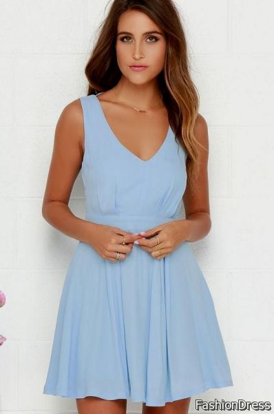 light blue sundress 2017-2018