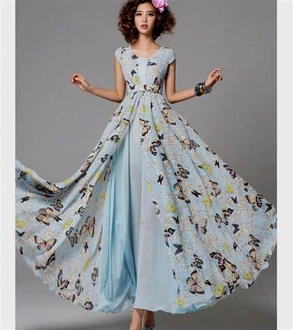 long light blue maxi dress 2017-2018