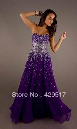 Sparkly Purple Prom Dress