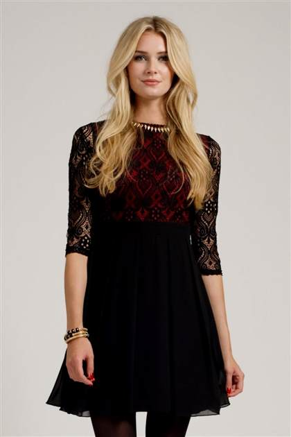 long sleeve black lace dress 2017-2018