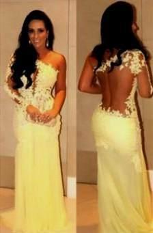 long yellow mermaid prom dresses 2017-2018