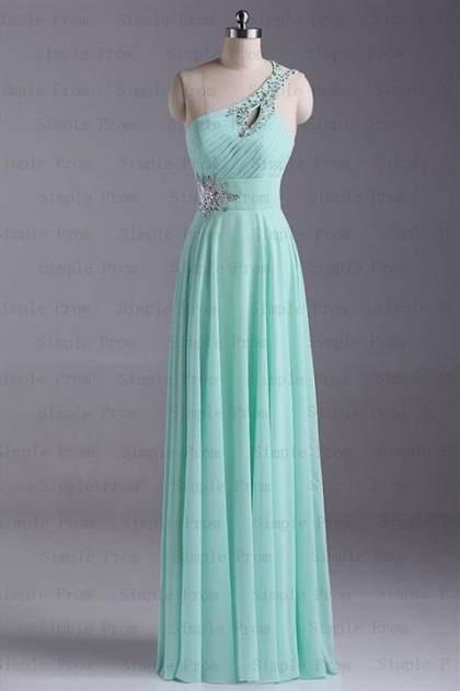 mint prom dress one shoulder 2018
