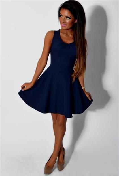 navy blue skater dress 2018