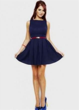 navy blue skater dress 2018