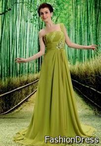 olive green prom dress chiffon 2017-2018