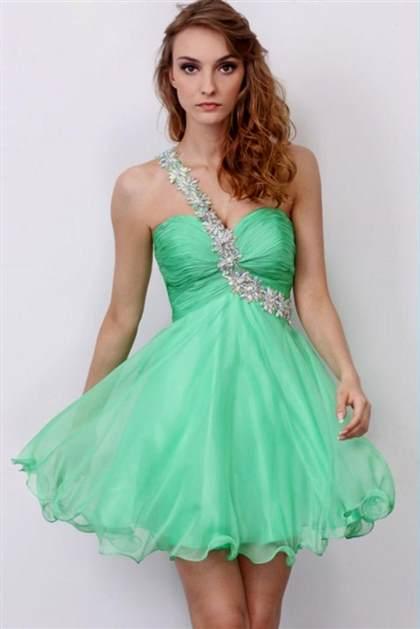 one shoulder short prom dresses 2018
