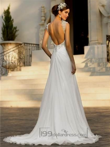 open back a-line wedding dresses 2017-2018